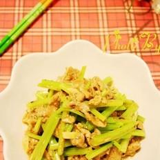 豉汁肉片炒芹菜