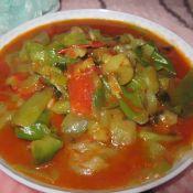丝瓜炒西红柿