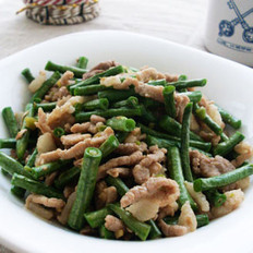 豇豆角炒肉丝
