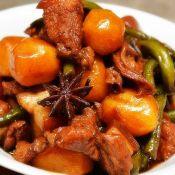 豆角土豆红烧肉