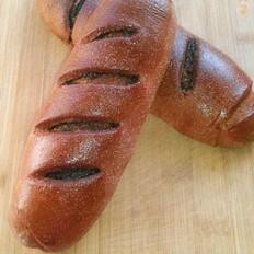 可可全麦黑芝麻面包