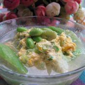 丝瓜毛豆鸡蛋汤