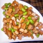 香干肉丁炒毛豆