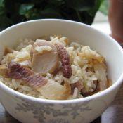 杏鲍菇熏肉炒饭