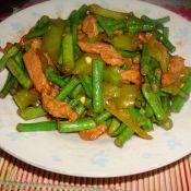 青椒肉丝豆角