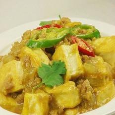 金枪鱼咖喱豆腐