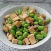毛豆豆腐炒肉末
