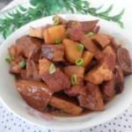 豆干土豆烧腱子肉