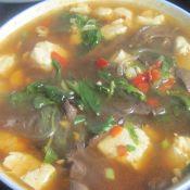 豆腐鸭血汤