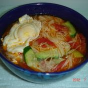 西红柿面汤鸡蛋果