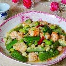 杂蔬炒虾仁