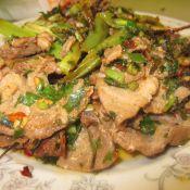 煎韭菜羊肉