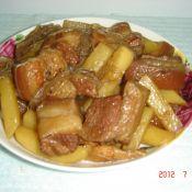 小炖肉烩土豆粉丝