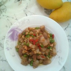 毛豆肉丁炒虾米