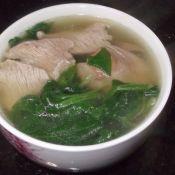 菠菜鸡肝汤