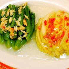 鲟肉鸳鸯菜