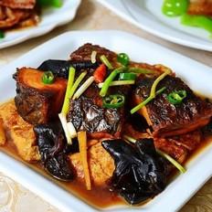 豆腐黑木耳炖咸青鱼