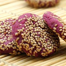 紫薯芝麻餅