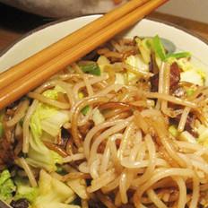 香菇酱炒米线