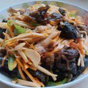 杏孢菇炒肉丝