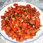 蒜末豆豉炒红椒