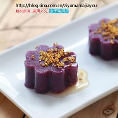 蜂蜜桂花紫薯冻