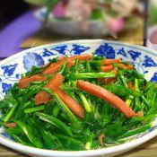 韭菜炒火腿肠