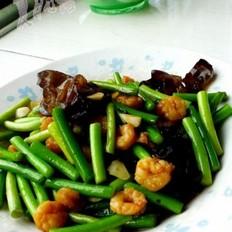 韭苔炒虾仁