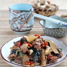 子姜紫苏炒牛肉