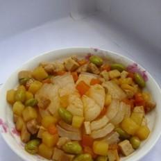 洋葱炒五丁