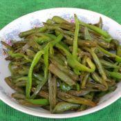 青椒炒豆角