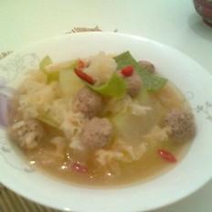 银耳冬瓜肉丸子汤
