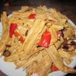 红椒炒腐竹