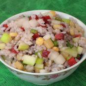 杂蔬炒双米饭