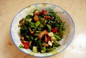 海米老虎菜的做法