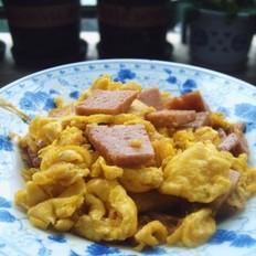 午餐肉炒鸡蛋