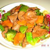 炒青椒猪肝胡萝卜