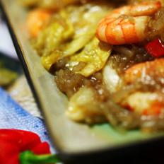 包菜粉丝虾仁