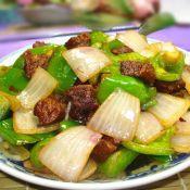 柿子椒炒麂子肉