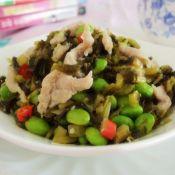 毛豆咸菜炒肉丝