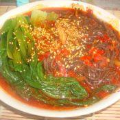 麻辣油菜蕨根粉