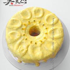 百香果酱淋戚风蛋糕