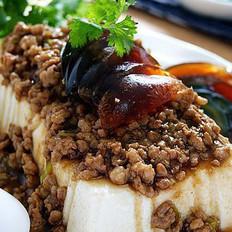 肉末皮蛋拌豆腐