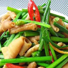 韭菜花炒鸭肠