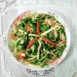 豆腐干胡萝卜炒水芹菜
