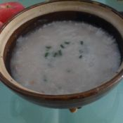 肉糜冬菜粥
