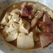 猪肘炖豆腐