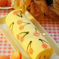 櫻桃彩繪蛋糕卷