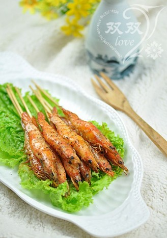 黑椒烧烤风味虾的做法