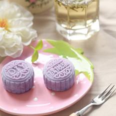 紫薯桂花山药冰皮月饼